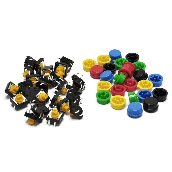 25PCS 12x12x7.3 mm Tact Tactile Push Button Switch with Cap