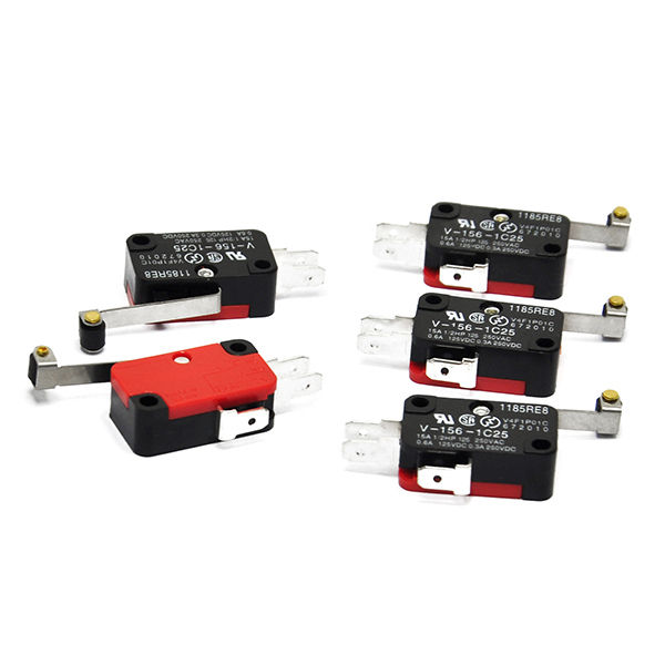 5x V-156-1C25 Micro Limit Switch Hinge Roller Snap for Arduino