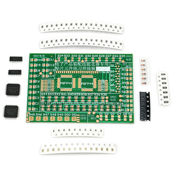 DIY SMD/SMT Components Practice Board Soldering Training Kit