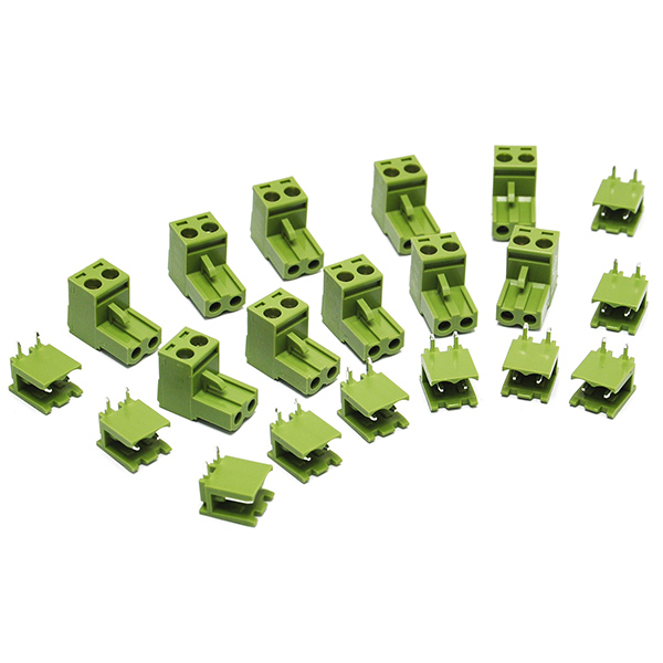 10PCS KF2EDGK 2P Right-Angle Plug-in Terminal Connector