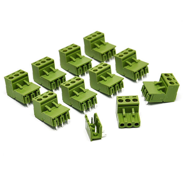 10PCS KF2EDGK KF3P Right-Angle Plug-in Terminal Connector