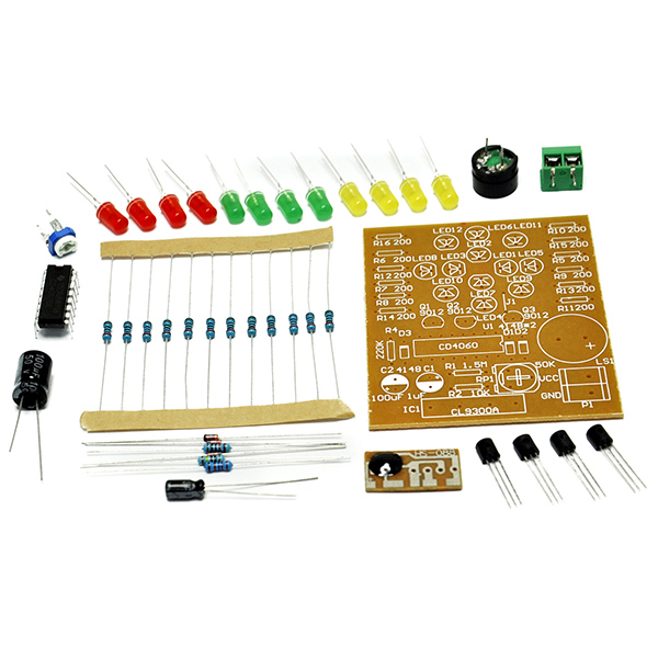 CD4060 Music LED Light Electronic DIY Kit Training Skill