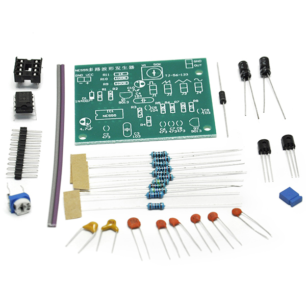 DIY Kits NE555 Multi-Channel Waveform Generator Suite