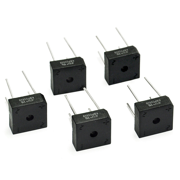 5PCS Bridge Rectifier KBPC1010 KBPC-1010 10A 1000V for Arduino