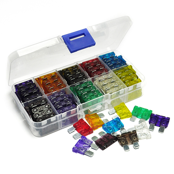 100PCS Blade Fuse Kit Assortment with Box 3,5~40 AMP