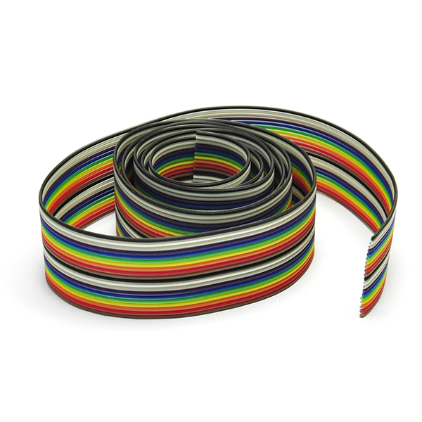 Gikfun 36 inch 2x10 Color Rainbow Core Hook Up Wire Cable