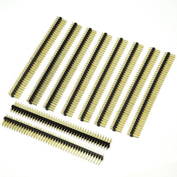 10pcs 2 X 40pin 2.54 breakaway Male header Gold Print