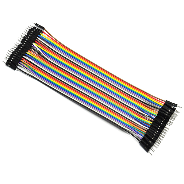 40x 1-Pin 2.54 M-M Dupont Wire Color Breadboard Connector Cable