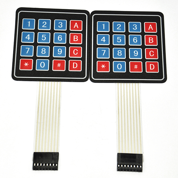 2PCS 4x4 Matrix 16 Key Membrane Switch Keypad Keyboard
