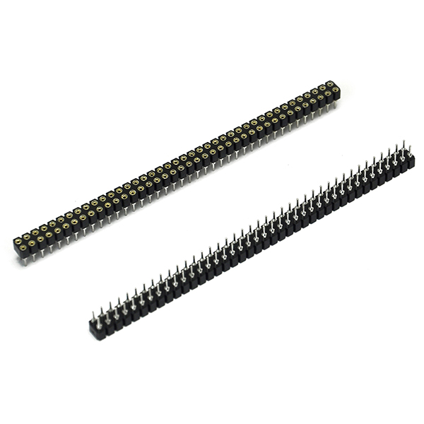 Quality 10pcs 2 X 40Pin 2.54 cylinder breakaway Female header