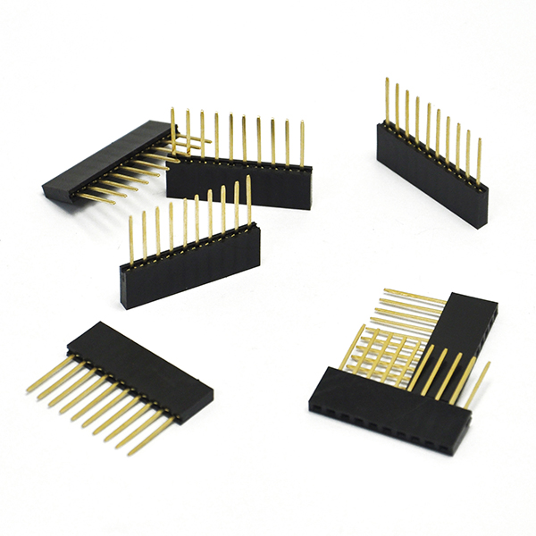 50PCS 10 Pin 2.54 mm Stackable Long Legs Female Header