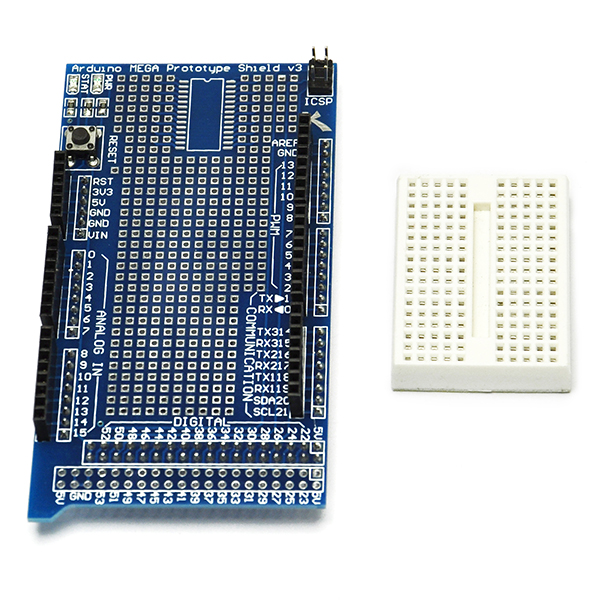 Prototype Shield ProtoShield V3 with mini breadboard