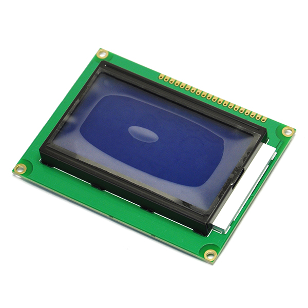5V 12864 Display Module Dots Graphic Matrix LCD Blue Backlight