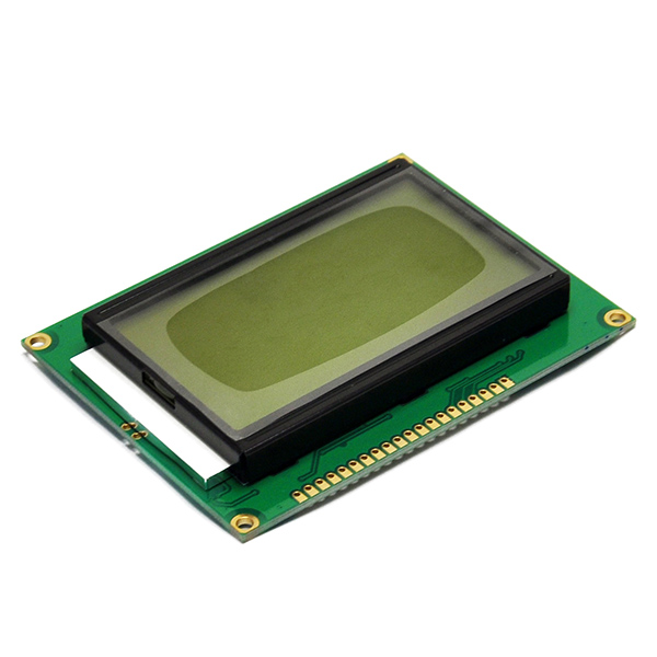 5V LCD Display 128x64 Dots Graphic Matrix Yellow green Backlight