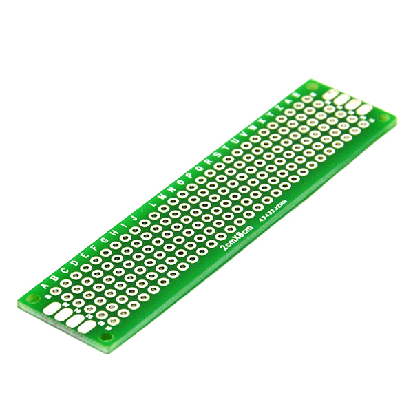Double Side Prototype PCB Tinned Universal Breadboard 2x8cm FR4