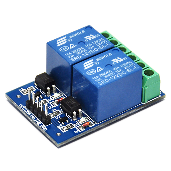12V 10A Two 2 Channel Relay Module With optocoupler