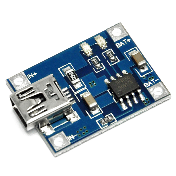 5V Mini USB 1A Lithium Battery Charging Board 4.5V-5.5v