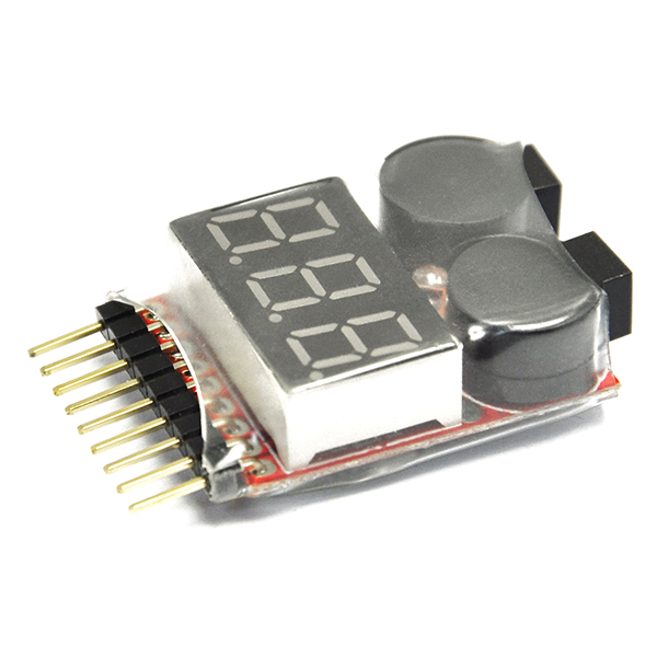1-8S Battery Voltage 2IN1 Tester Low Voltage Buzzer Alarm