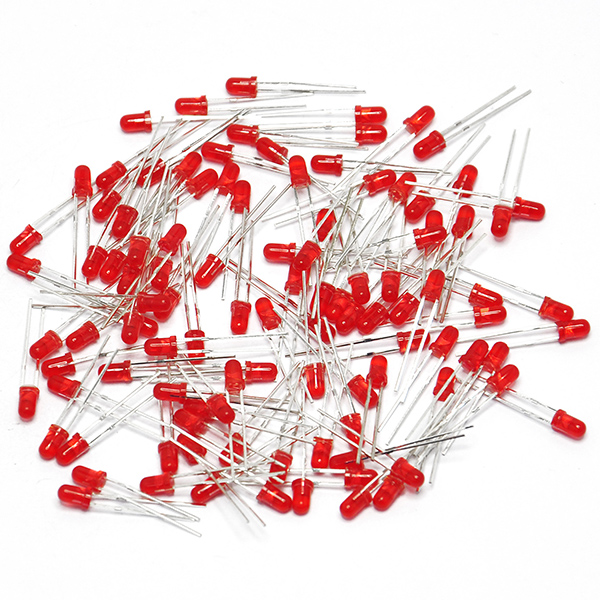 100PCS LED lamps 3MM RED COLOR RED LIGHT Super Bright