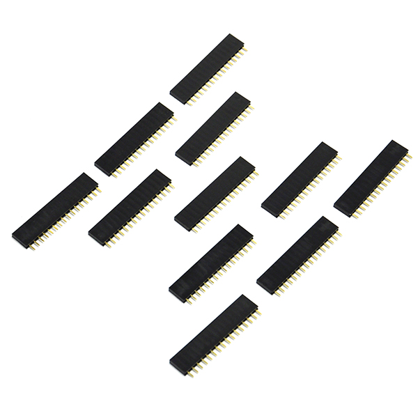 50pcs of Single Row 1x16 pins 2.54mm Female Header