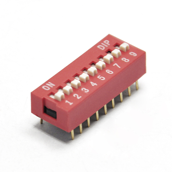 2.54mm Pitch 9-Bit Slide Type DIP Switch for Arduino EK1424