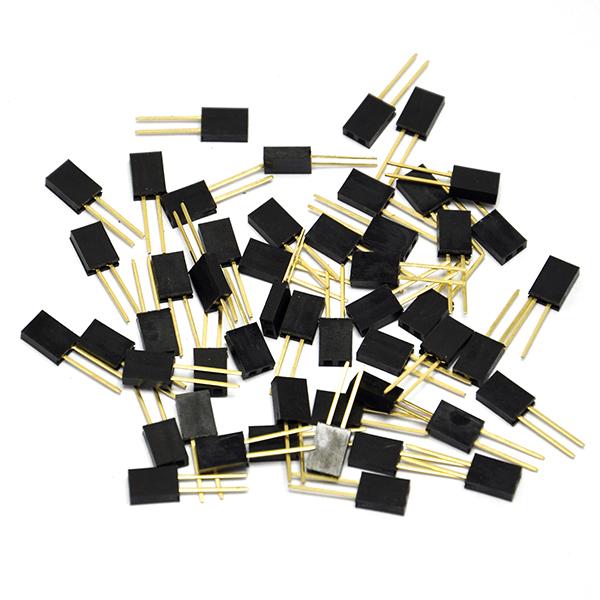 50PCS 2Pin 2.54 mm Stackable Long Legs Femal Heade