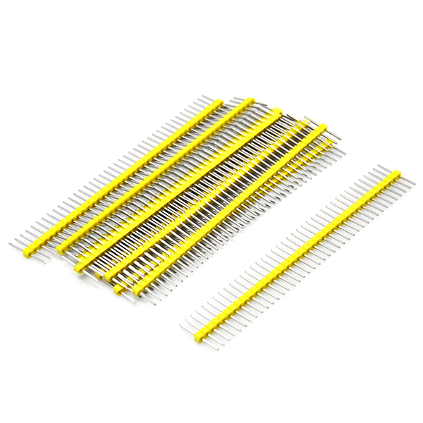 10pcs Yellow 40pin 2.54mm Single Row Breakaway