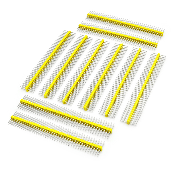 10pcs Yellow 2 x 40pin 2.54mm two Row Breakaway Male Pin Header