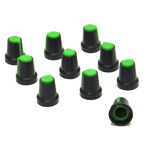 10Pcs Rotary Control Knobs Caps Covers for 6mm Dia Potentiometer