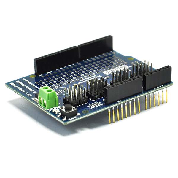 New 16 Channel 12-bit PWM Servo Drive shield board For Arduino