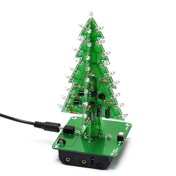 3D Xmas Tree Diy Kits LED Christmas Trees LED 7 Color light
