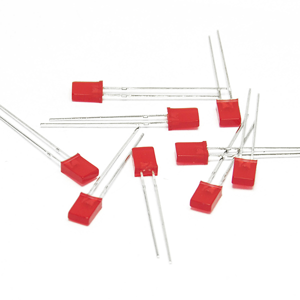 50pc 2x5x7mm LED Red Colour Red Light Emitting Diode for Arduino