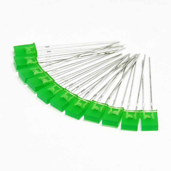 50pcs 2x5x7mm LED Green Colour Green Light Emitting Diode
