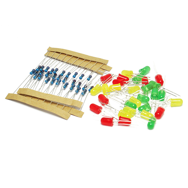 30 led and 30 220ohm Resistor Experiment Kit