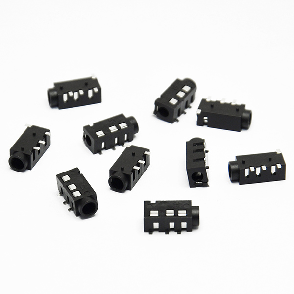 10PCS PJ-320D 4 Pins SMD 3.5mm Female Headphone Jack Connector