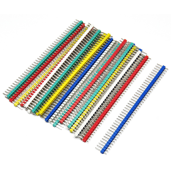 20PCS 40 Pin Strip Breakable Pin Header Tin PCB Panel IC Male