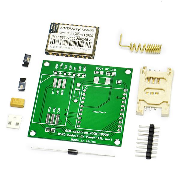 M590E GSM GPRS Module 900m-1800m Sms Message Diy Kits