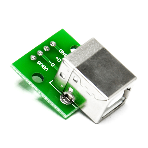 Type B Female USB To DIP 2.54mm PCB Board Adapter Converter