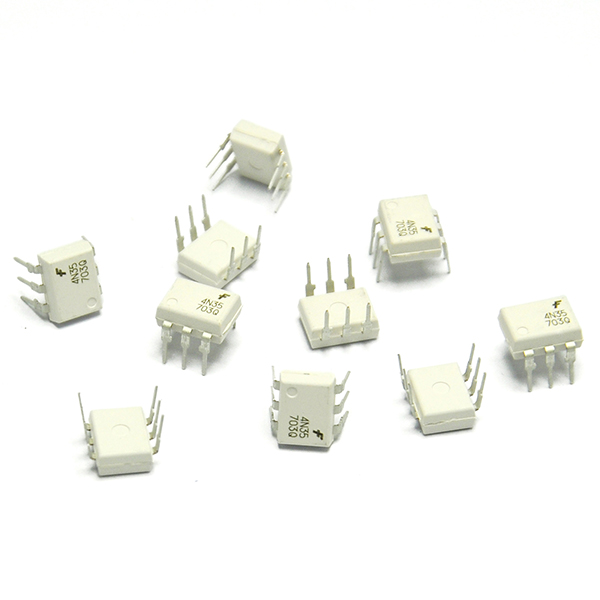 10PCS 4n35 Optocouplers Phototransistor 30V DIP6 IC for Arduino