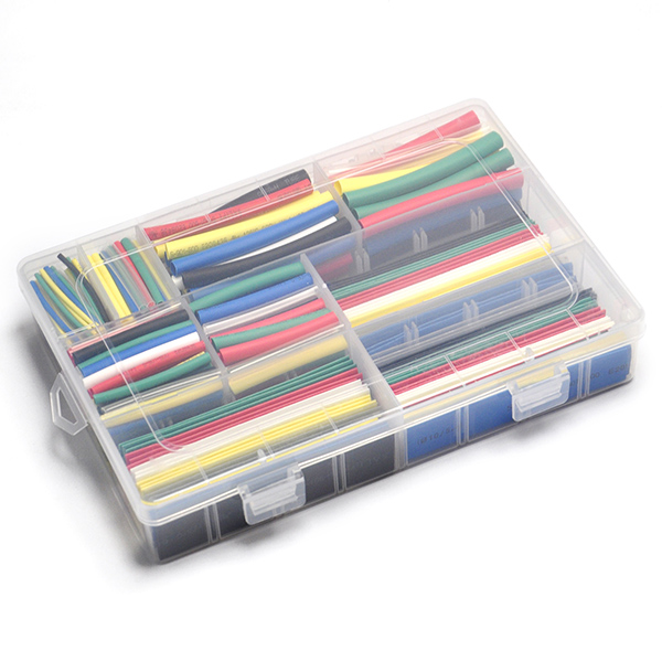 385PCS Heat Shrink Tube Sleeve Wrap Wire Kit 7 Colors 9 Sizes