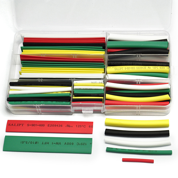 140PCS Assorted 2:1 Heat Shrink Tubing Wrap Sleeve Kit