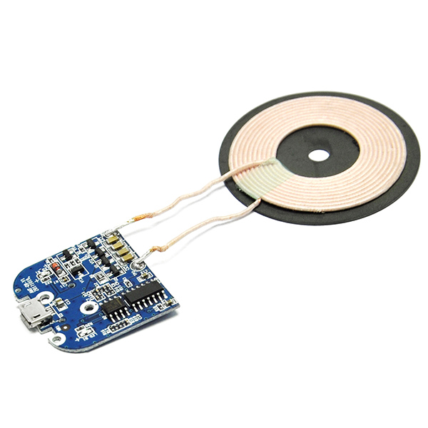 Qi Wireless Charger PCBA Circuit Board Coil Micro USB Port