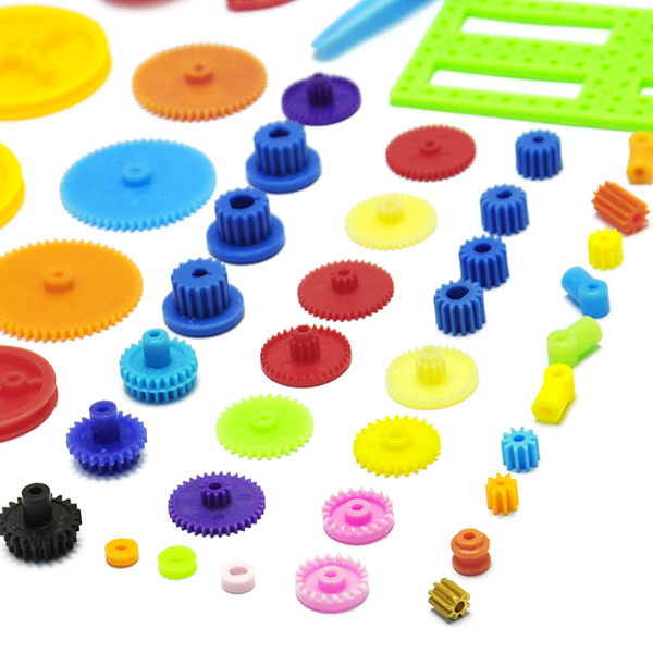 DIY 55 kinds of Color Plastic Gear Gearbox Toy Car Motor Gear