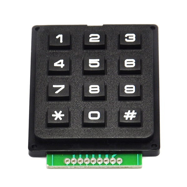 12 Digit Keypad 3 x 4 Array Electronic Projects Diy for Arduino