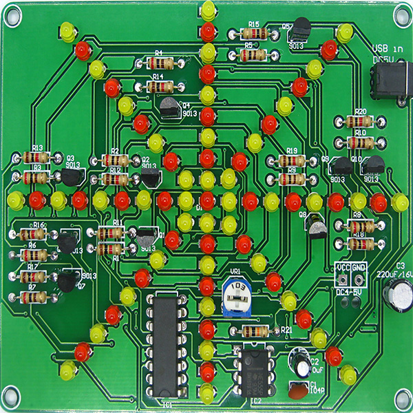 Electronic LED Falshing Lights Soldering Practice Board PCB DIY