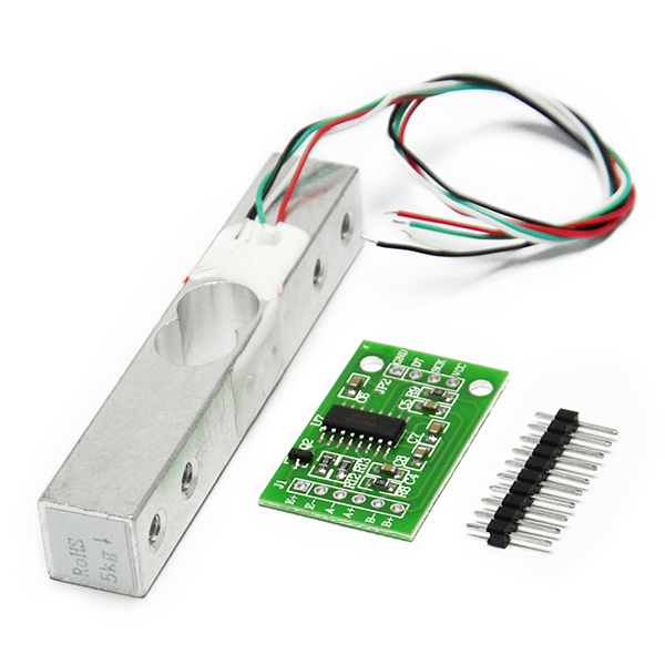 5KG Scale Load Cell Weight Weighing Sensor and AD Module HX711