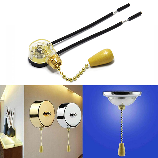 Pull Chain Switch Diy Kits for Wall Lamp Home Decoration Lamps