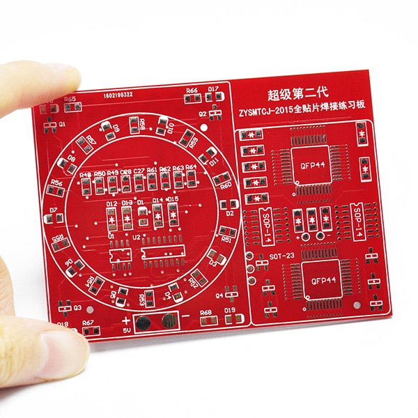 SMD SMT Welding Practice Soldering Board NE555 CD4017 Diy Kit