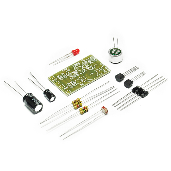 Light Sound Delay Sensor Module Switch PCB Board Assemble Kit