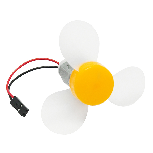 Micro DC 130 Motor with Propeller 3-blade Props 72mm Fan